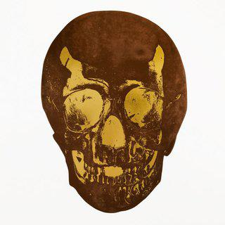 The Dead (chocolate oriental gold skull) art for sale