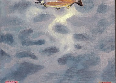 work by Dan Attoe - Salmon Sky