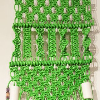 Untitled (extension cords – green) art for sale