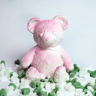 Pink Cracked Bear art for sale