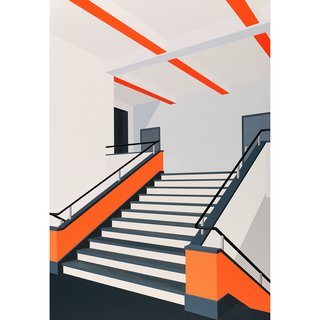 Bauhaus (Orange) art for sale