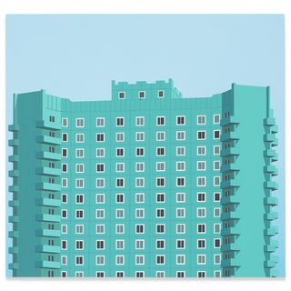 Pyongyang Apartment Block art for sale