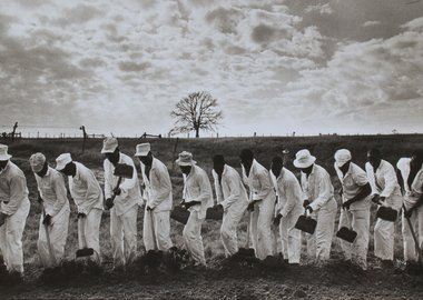 work by Danny Lyon - The Line, Ferguson Prison, Texas