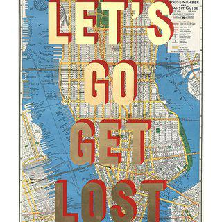 NYC Let's Go Get Lost art for sale