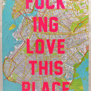 I Fucking Love This Place - Brooklyn (Small) art for sale