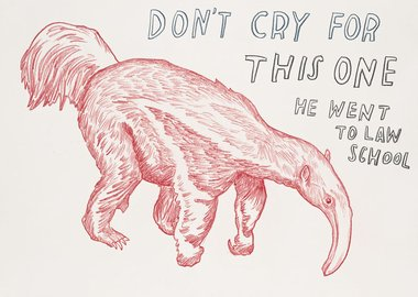 work by Dave Eggers - Untitled (Don't Cry for this One, He Went to La...