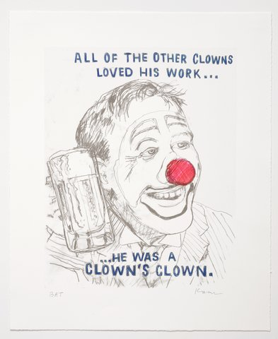 David Kramer - Clown, Print