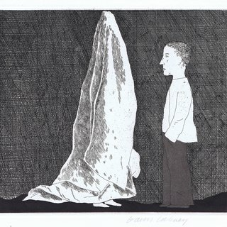 The Sexton Disguised as a Ghost ( The Boy Who Left Home to Learn Fear) art for sale