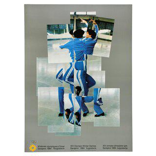 The Skater (Official 1984 Sarajevo Winter Olympics Poster) art for sale