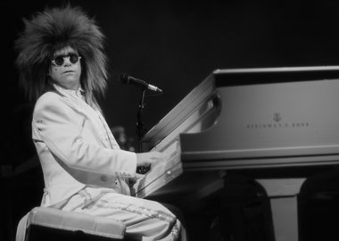 work by David Plastik - Elton John in Wig