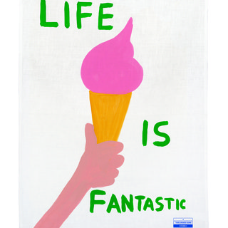 Life is Fantastic Tea Towel art for sale
