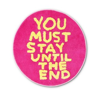 You Must Stay Shaggy Floor Mat art for sale