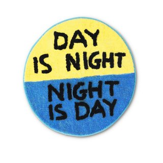 Day is Night Shaggy Floor Mat art for sale