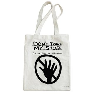 Don't Touch My Stuff Tote Bag art for sale