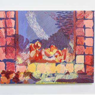A windows ledge with ripening tomatoes on a day I cannot remember art for sale