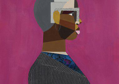 work by Derrick Adams - Interior Life (Woman)