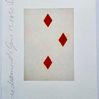 Playing Cards: Three of Diamonds art for sale