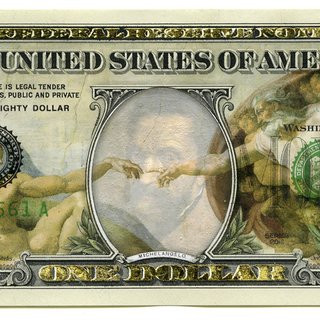 Art Notes: The Almighty Dollar art for sale