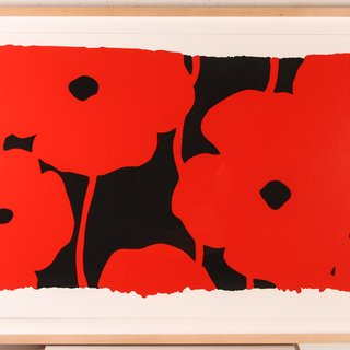 Donald Sultan, Eight Poppies
