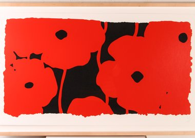 work by Donald Sultan - Eight Poppies