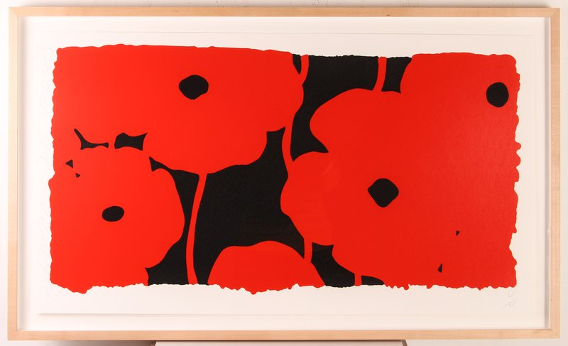 main work - Donald Sultan, Eight Poppies