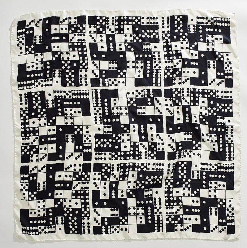Donald Sultan, Dominoes Silk Scarf -