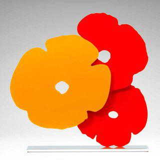 Yellow and Red Poppies art for sale