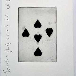 Playing Cards: Five of Spades art for sale