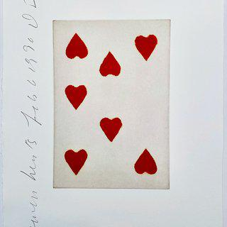 Playing Cards: Seven of Hearts art for sale