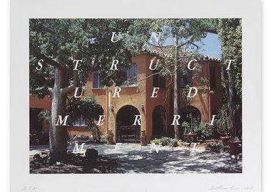 work by Ed Ruscha - Unstructured Merriment
