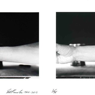 Self-Portrait of My Forearm 1960 and Self-Portrait of My Forearm 2014 art for sale