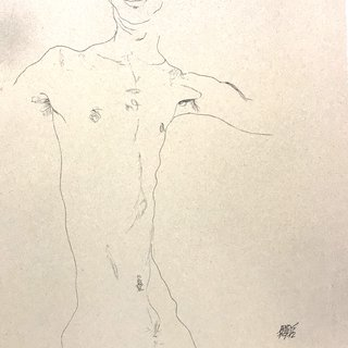 Standing Male Nude art for sale