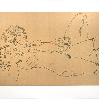 Two Reclining Nude Girls art for sale