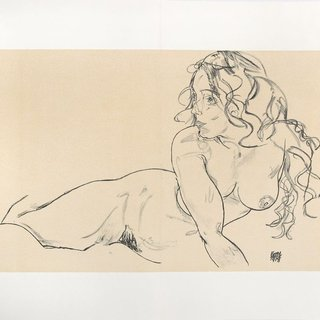 Reclining Nude with Raised Torso art for sale