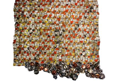 work by El Anatsui - Paper and Gold