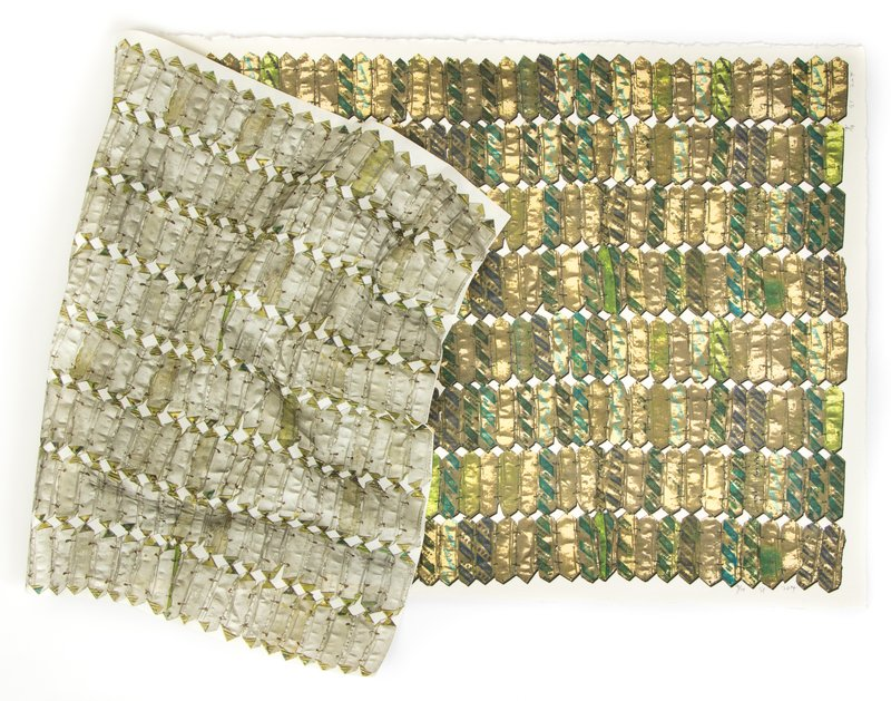 main work - El Anatsui, Green Variation