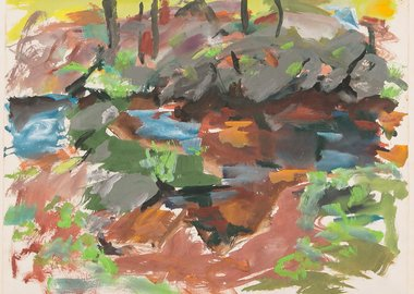 Elaine de Kooning - Catskill Series: Rocks and Trees