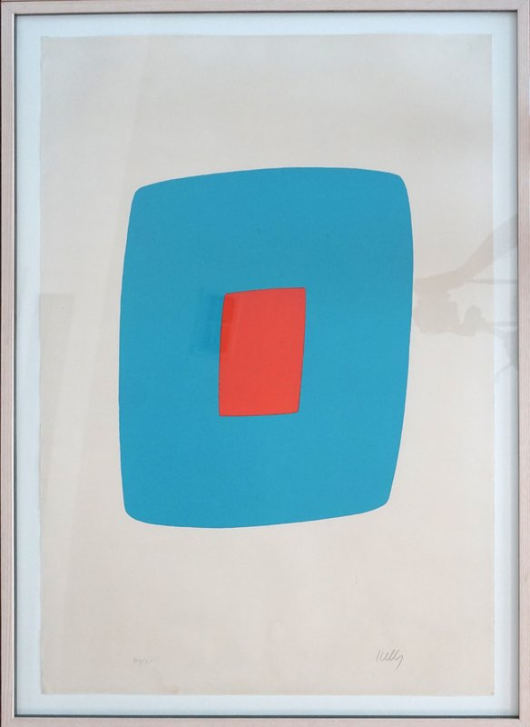 view:12177 - Ellsworth Kelly, Light Blue With Orange VI.11 -