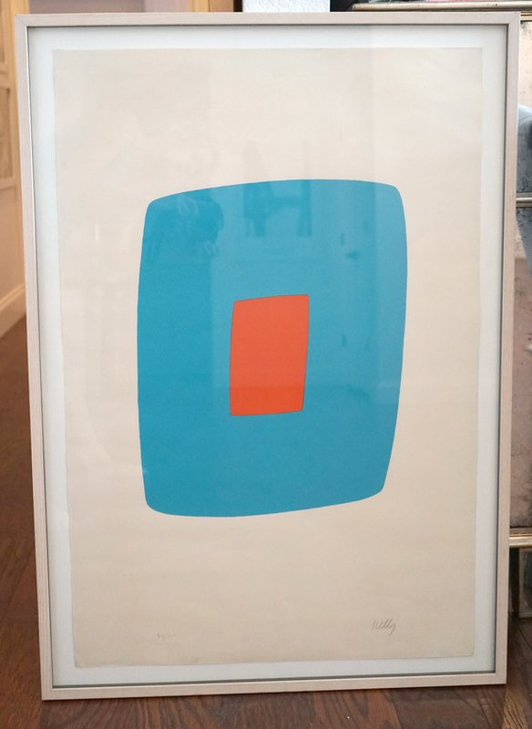 view:12179 - Ellsworth Kelly, Light Blue With Orange VI.11 -