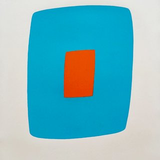 Ellsworth Kelly, Light Blue With Orange VI.11