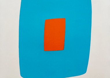 work by Ellsworth Kelly - Light Blue With Orange VI.11