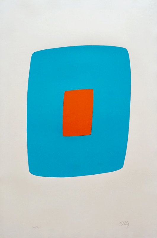 main work - Ellsworth Kelly, Light Blue With Orange VI.11