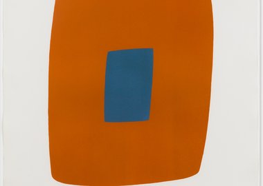 work by Ellsworth Kelly - Orange with Blue