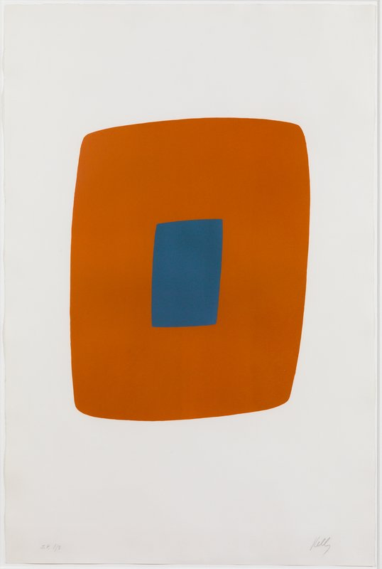 main work - Ellsworth Kelly, Orange with Blue