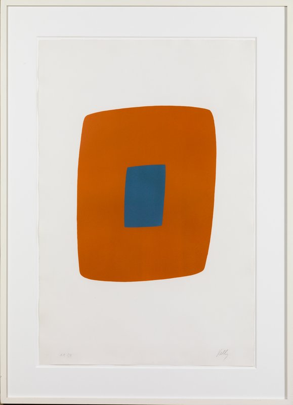 view:15215 - Ellsworth Kelly, Orange with Blue -