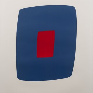 Ellsworth Kelly, Dark Blue with Red