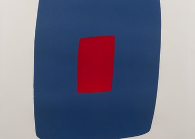 work by Ellsworth Kelly - Dark Blue with Red