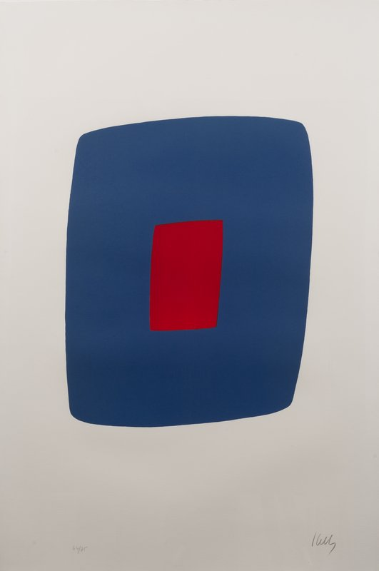 main work - Ellsworth Kelly, Dark Blue with Red