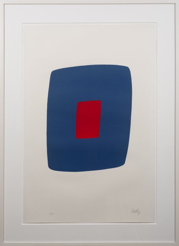 view:15217 - Ellsworth Kelly, Dark Blue with Red -