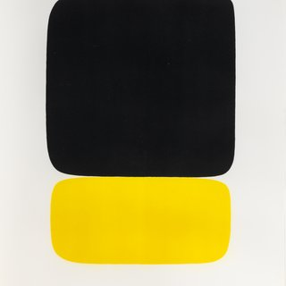 Black Over Yellow art for sale